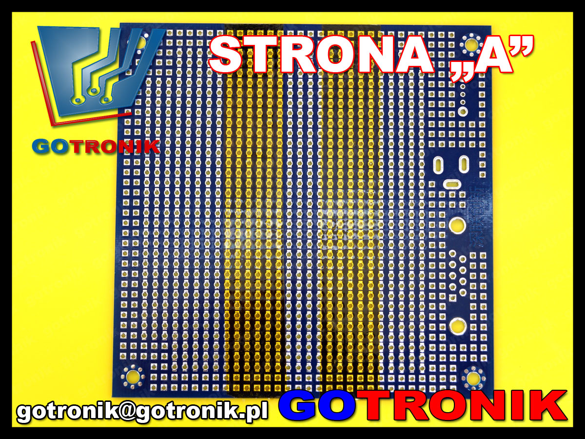 uniwersalna płytka drukowana PCB 95x95mm PCB-096 dwustronna z metalizacją otworów