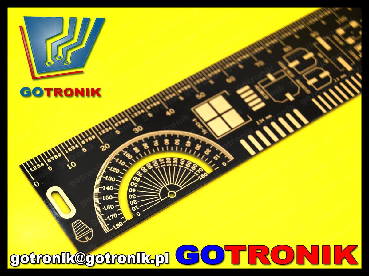 PCB-098 linijka pcb płytka drukowana 20cm wzornik PCB098