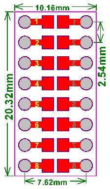 Płytka drukowana 0805,0603,0402 SMD na DIP 2,54mm