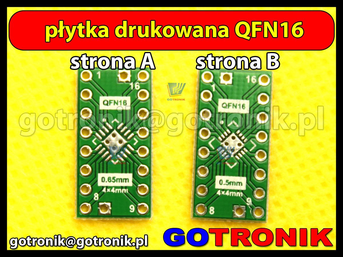 Płytka drukowana QFN16 raster 0,5mm 0,65mm DIP16