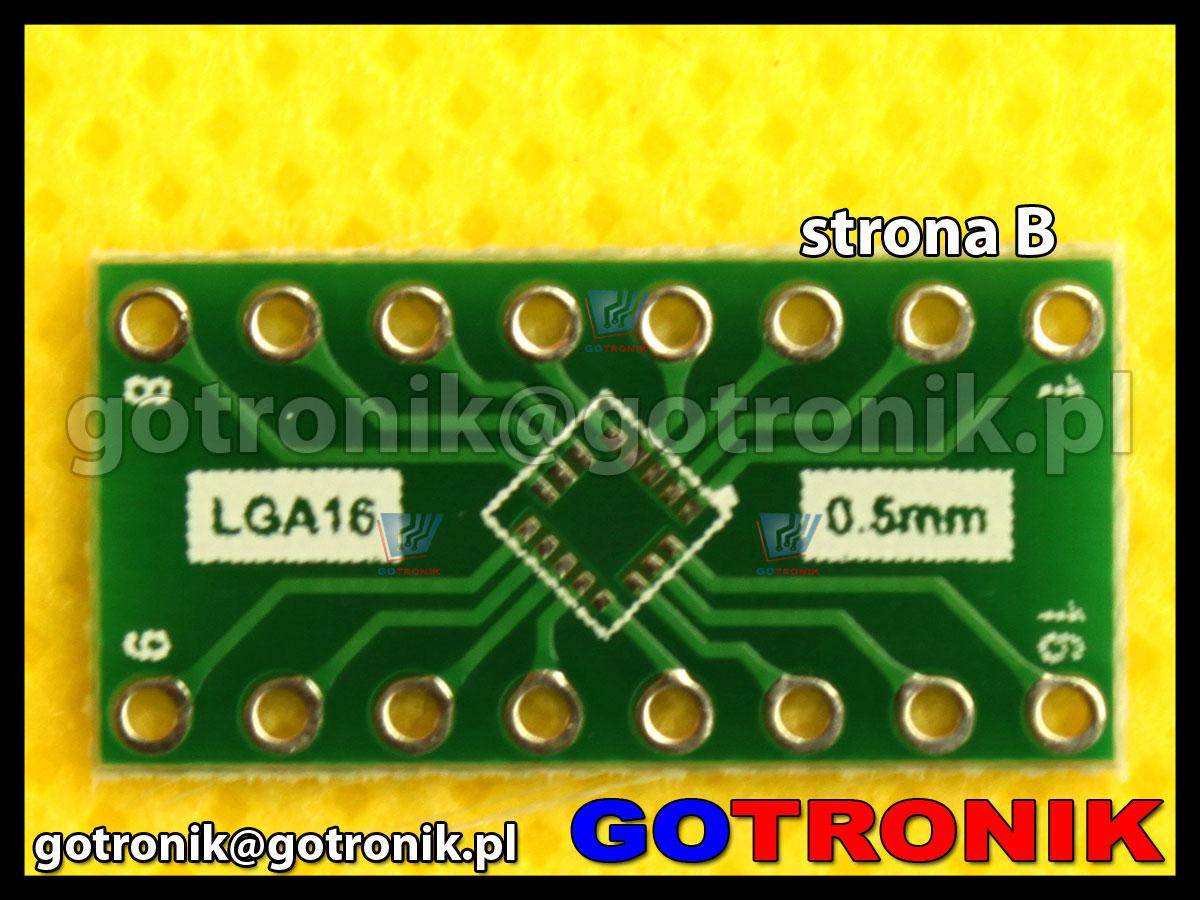 Płytka drukowana QFN16 / LGA16 raster 0,5mm 0,50mm