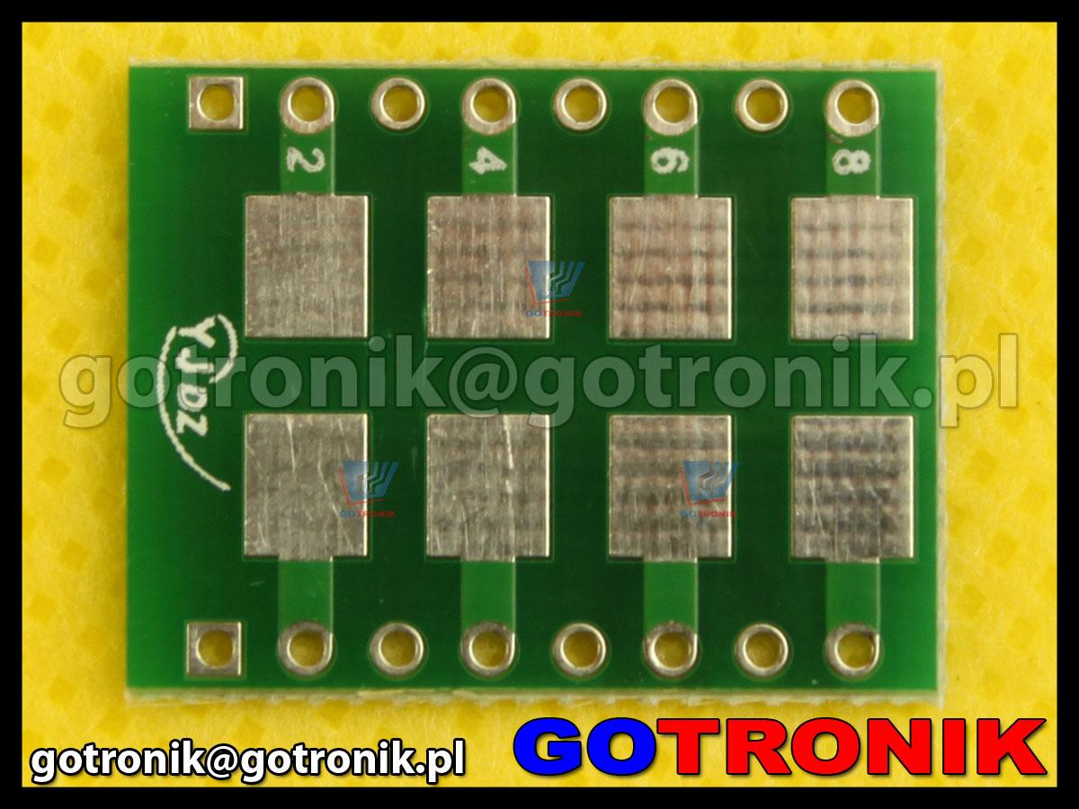 Płytka drukowana SMA SMB SMC 2512 1812 1210 1206 raster 0,8mm 0,635mm