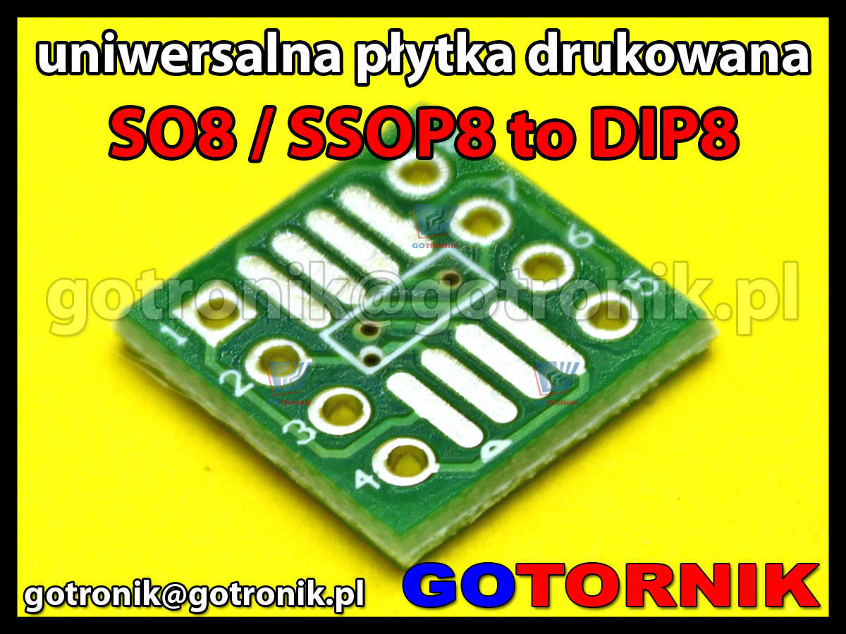Uniwersalna płytka drukowana pcb do smd adaptera SO8 to DIP8 SSOP8 TSSOP8 0,65mm raster