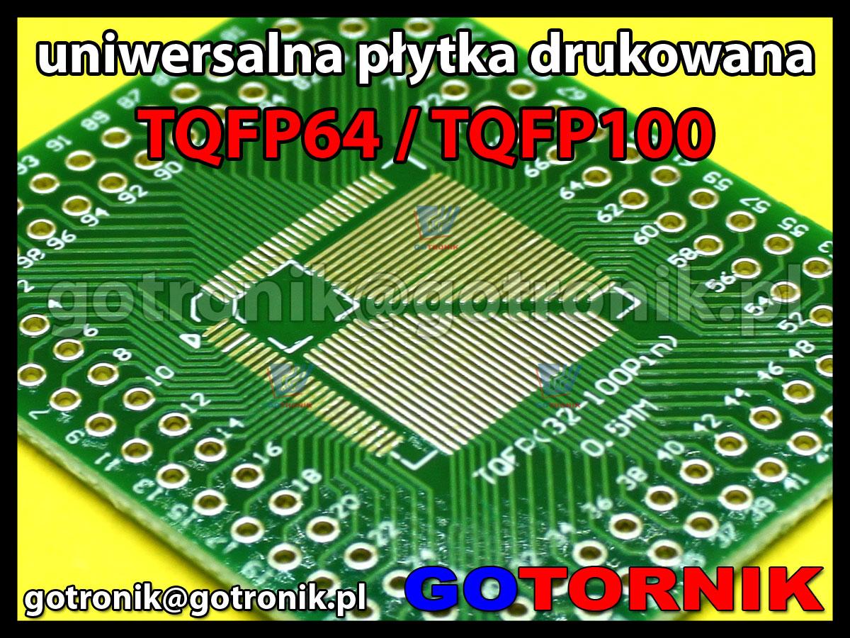 Uniwersalna płytka drukowana pcb do smd TQFP/QFP 32pin - 100pin 0,8mm 0,5mm