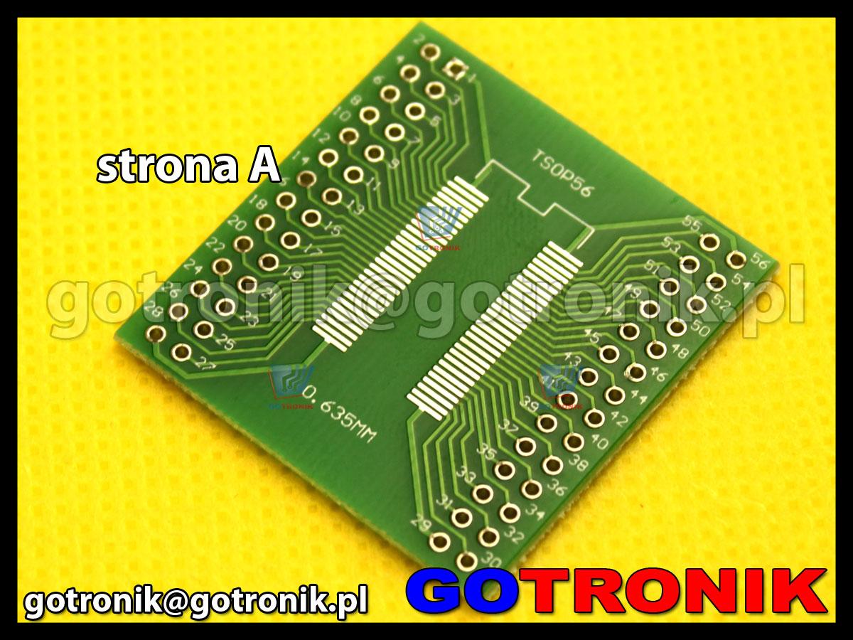 Płytka drukowana TSOP56 / SOP56 raster 0,8mm 0,635mm