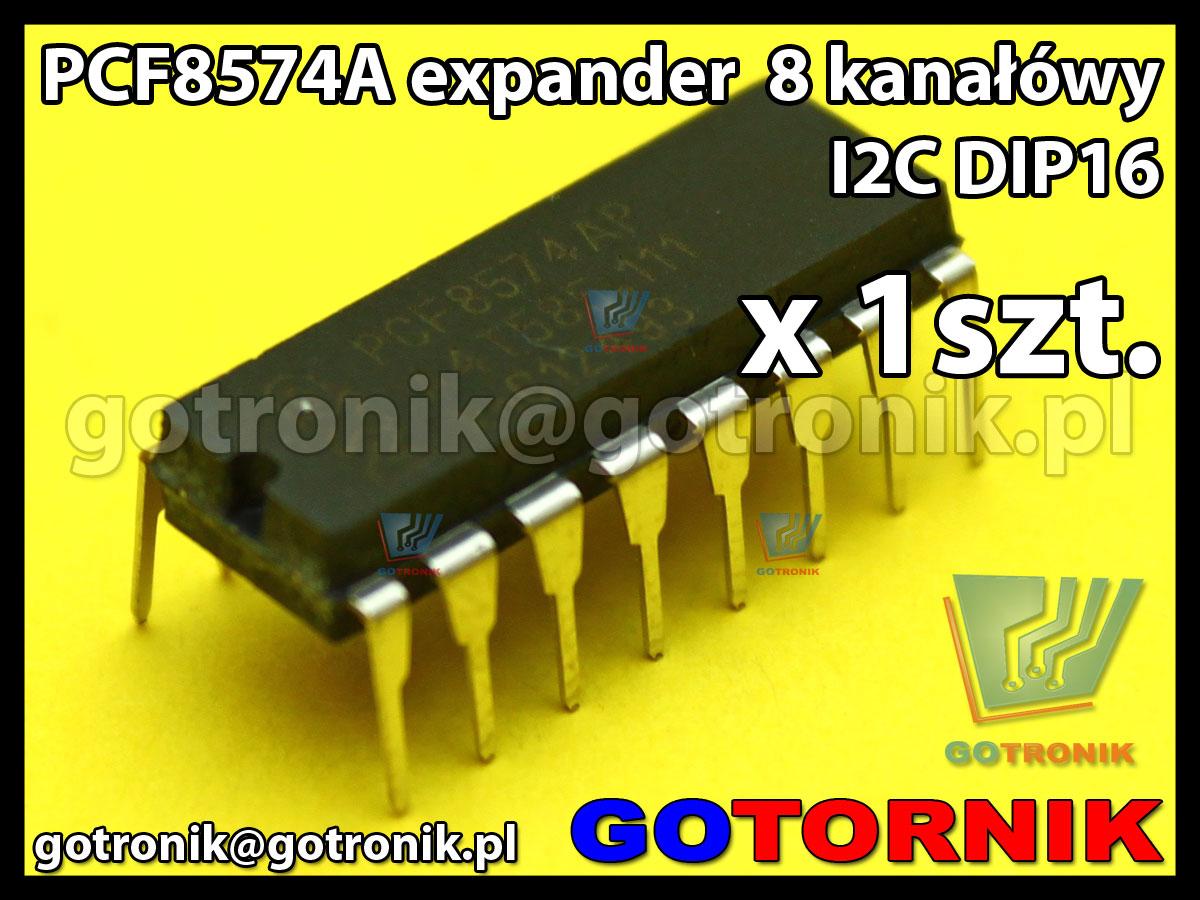 PCF8574A - expander I/O - 8 kanałów I2C DIP16