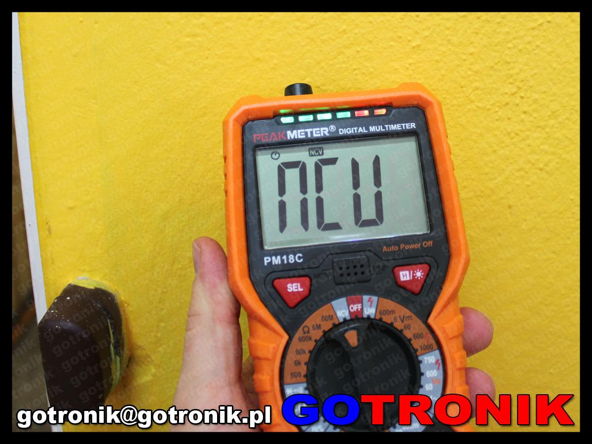 miernik mutimetr cyfrowy PM18C PeakMeter true rms