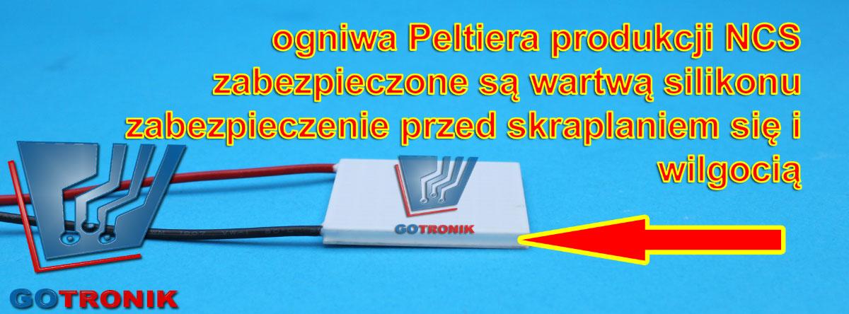 Ogniwa Peltiera NCS zabezpieczone wartwą silikonu