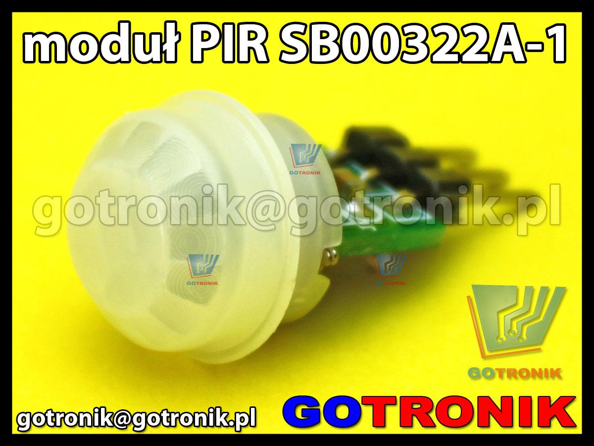 Moduł PIR czujnik detektor ruchu SB00322A-1 miniaturowy