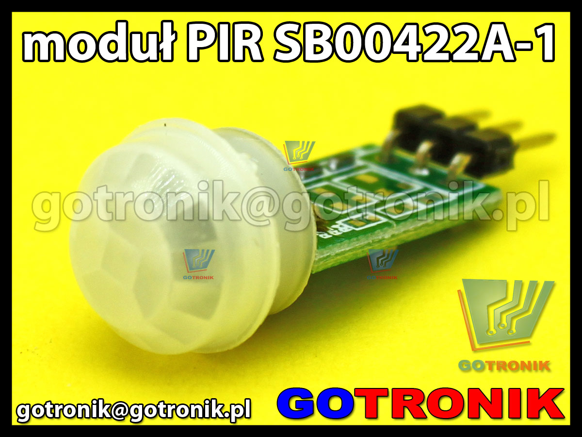 Moduł PIR czujnik detektor ruchu SB00422A-1