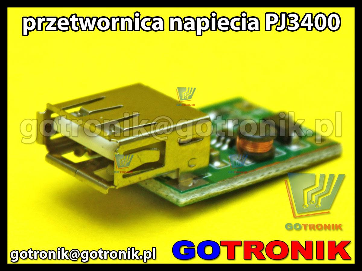 Przetwornica napięcia z 0,9V-5V na 5V USB PJ3400
