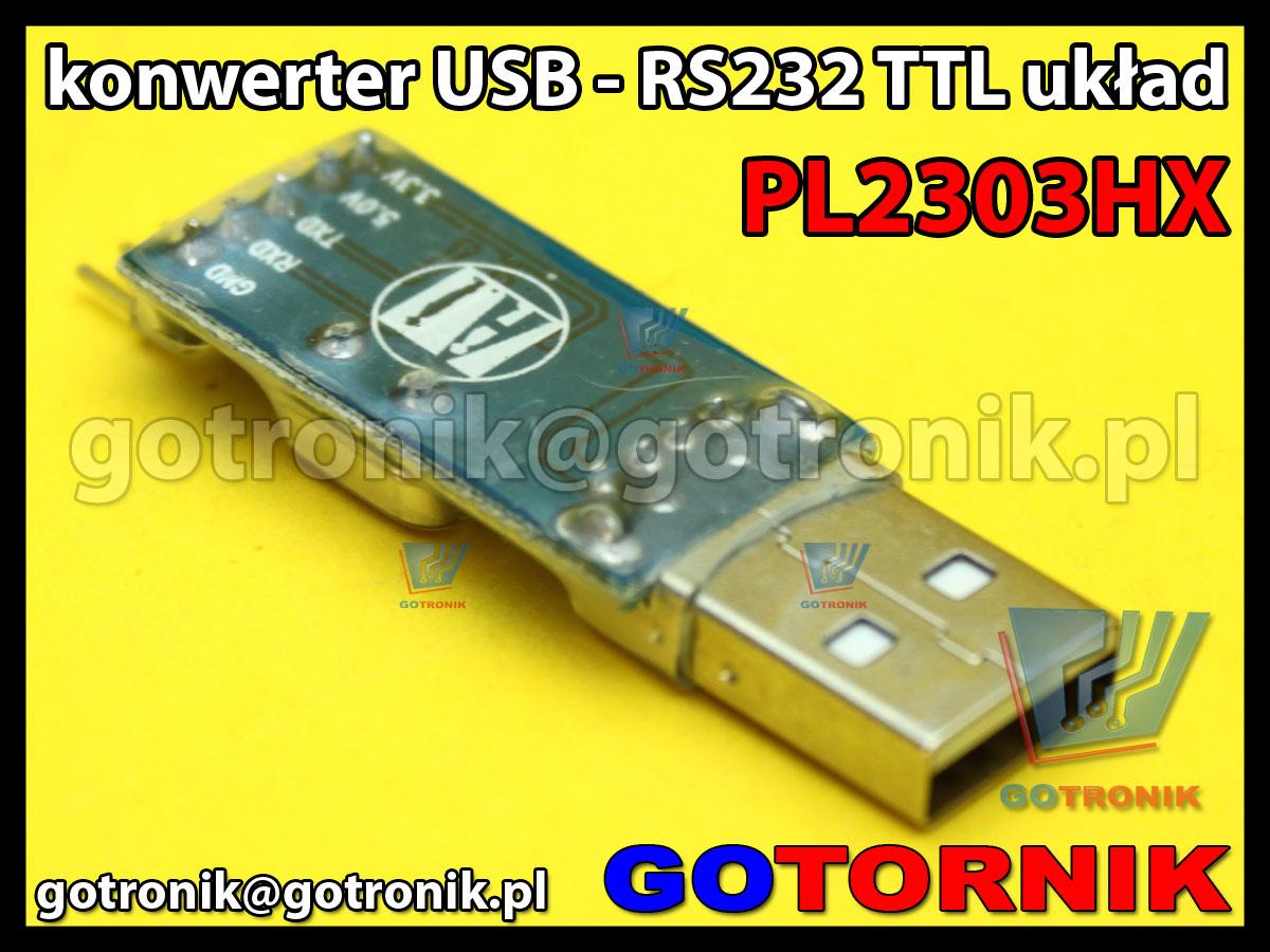Konwerter USB - RS232 TTL układ PL2303HX