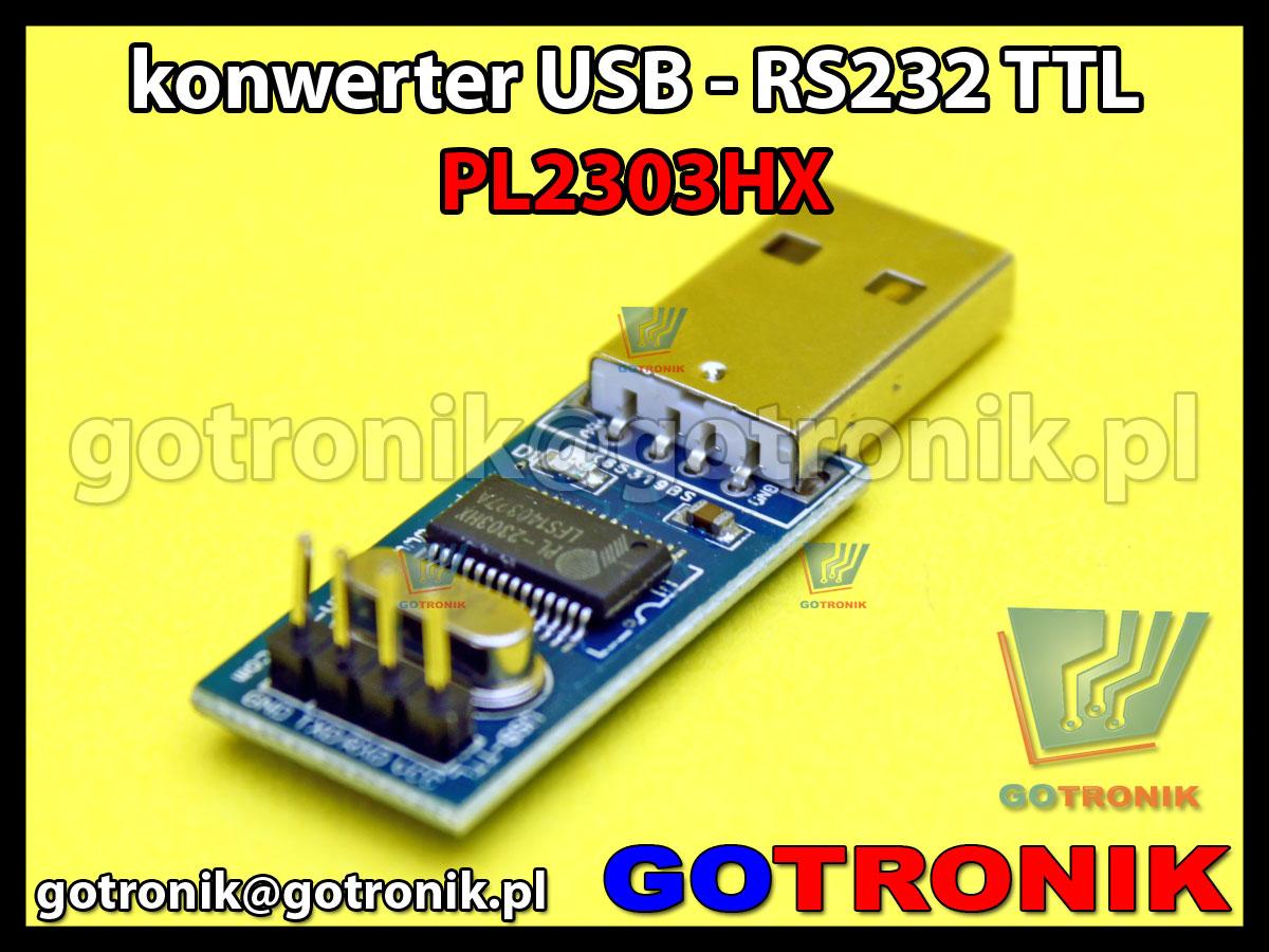 Konwerter USB - RS232 TTL układ PL2303HX prolific