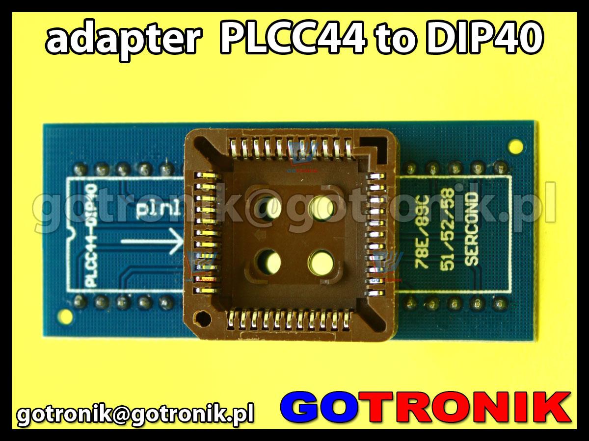 Adapter PLCC44 to DIP40 uniwersalny do programatorów MCU