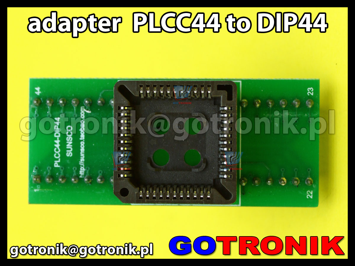 Adapter PLCC44 to DIP44 uniwersalny do programatorów pamięci, połączenie 1:1