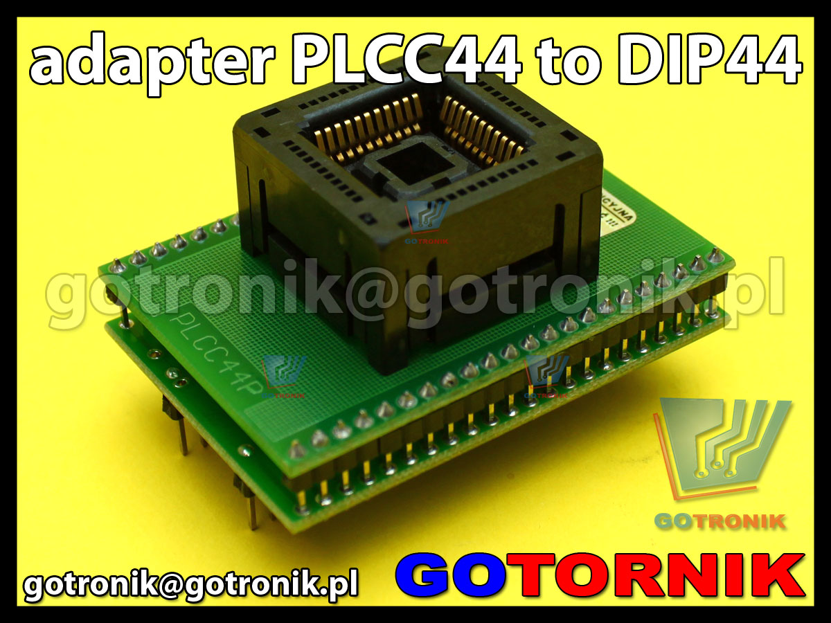 Adapter PLCC44 to DIP44 1:1 do programatorów 1,27mm 44pin SMD