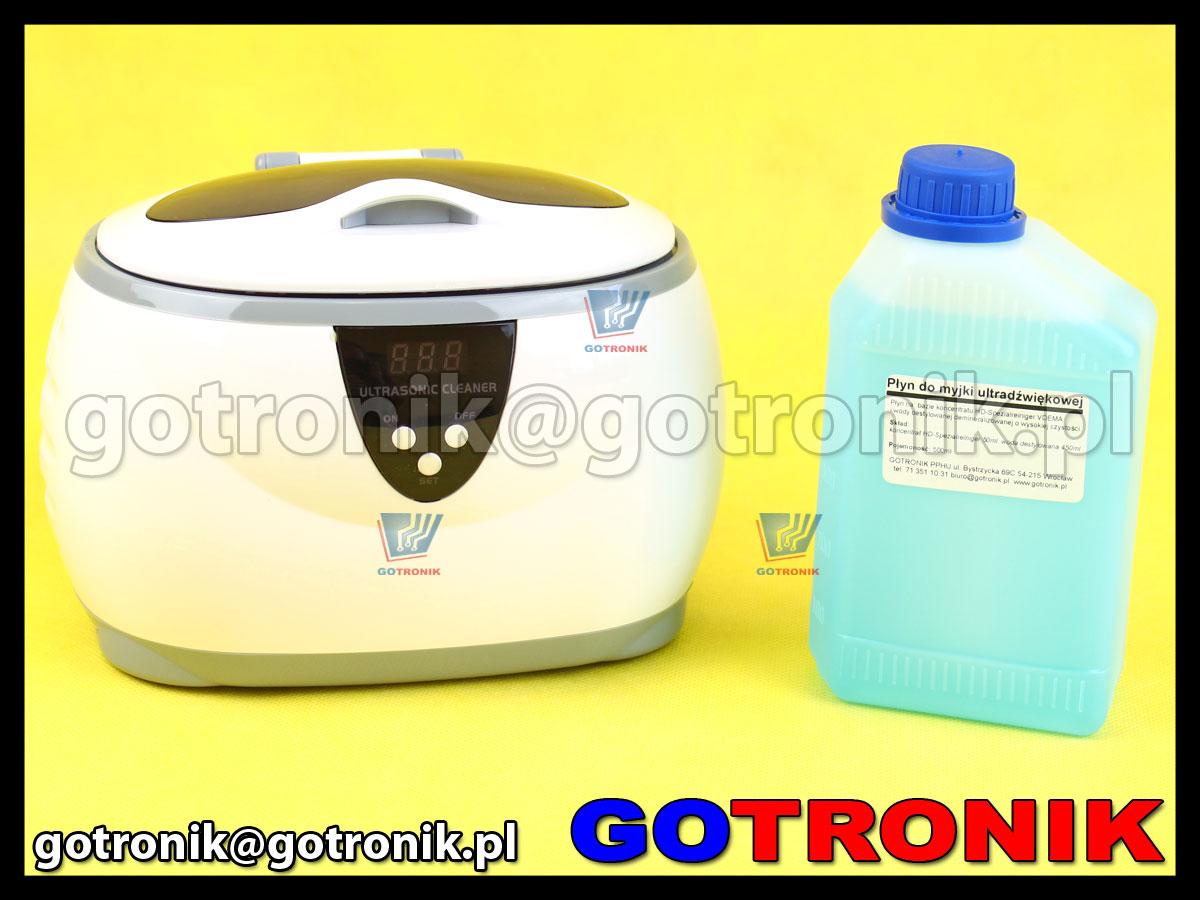 myjka ultradźwiękowa CD-3800 CD3800 + płyn 500ml