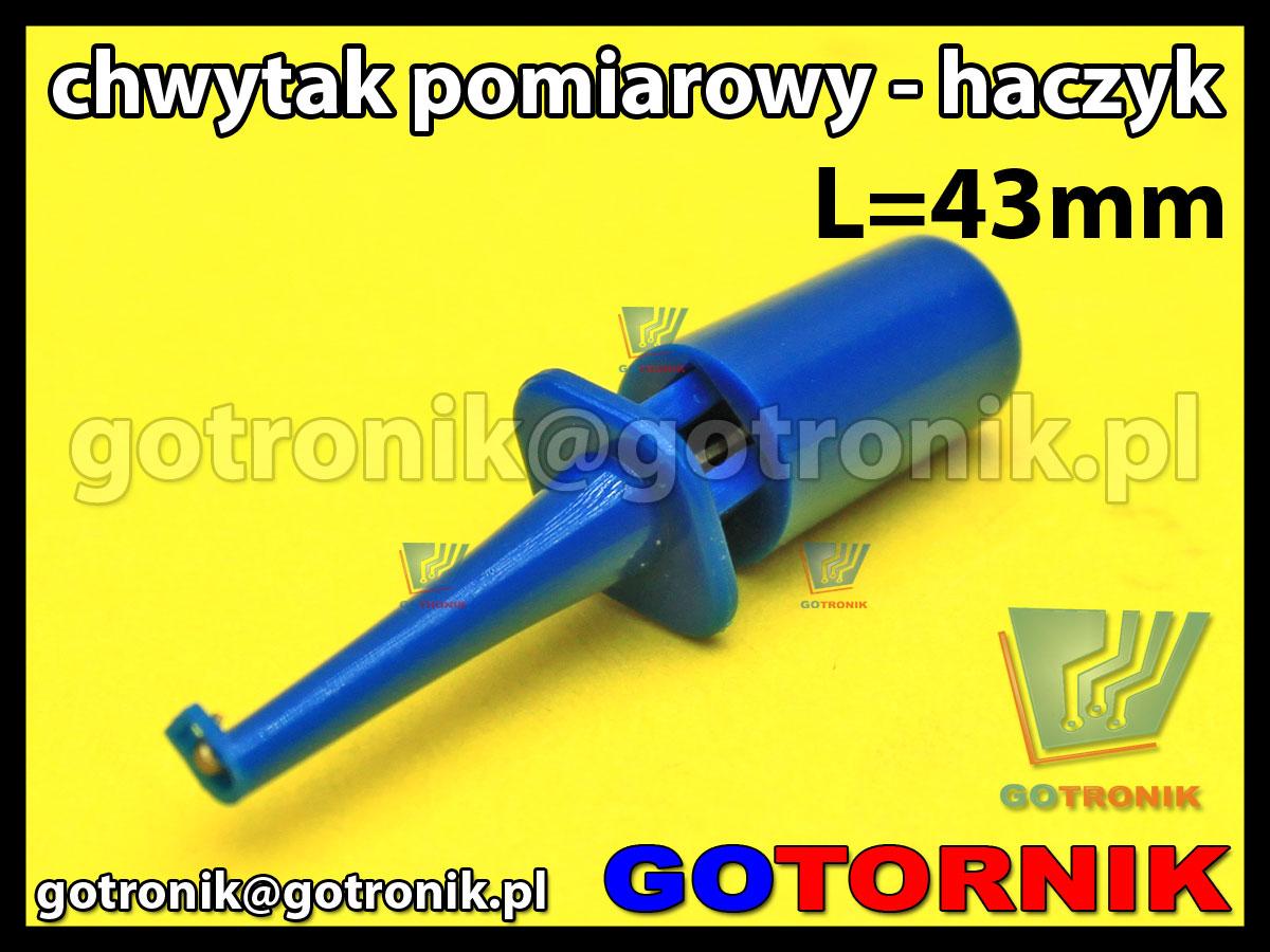 chwytak pomiarowy haczyk L=43mm