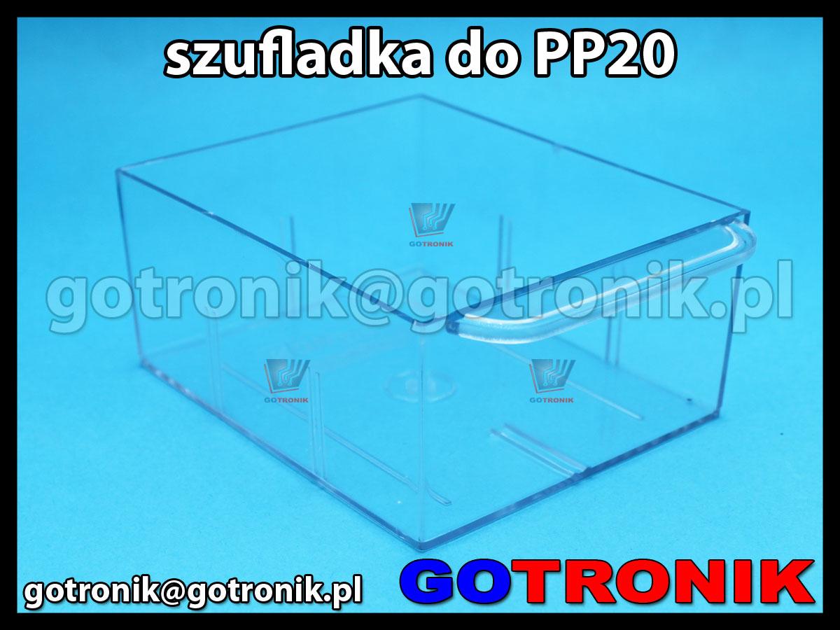 SPP20 szufladka przezroczysta z szafki PP20 zapasowa