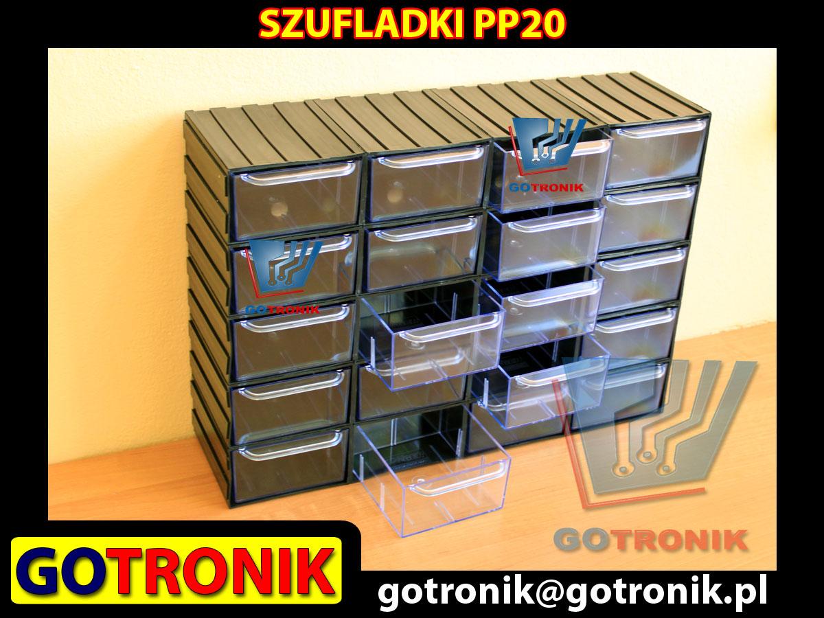 PP20 PP 20 PP-20 moduł z dwudziestoma szufladkami