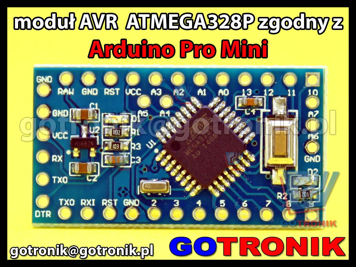 moduł AVR ATMEGA168A zgodny z Arduino Pro Mini