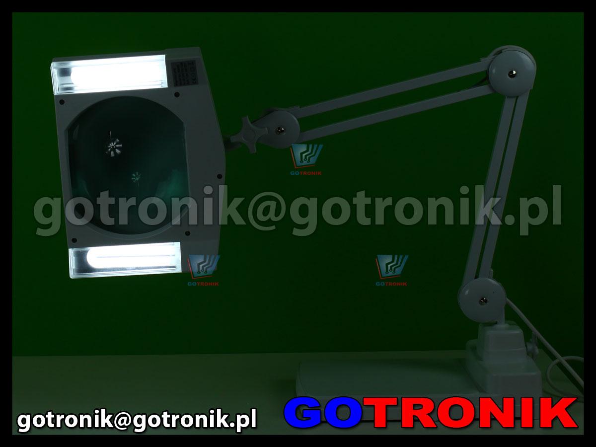 Lampa 2 x 9W z lupą o powiększeniu 5D x2,25 + dodatkowa soczewka 12D