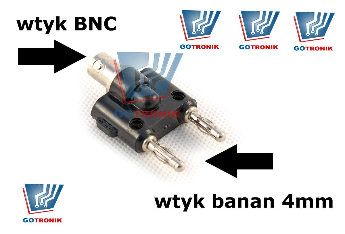 Przejściówka BNC - banan