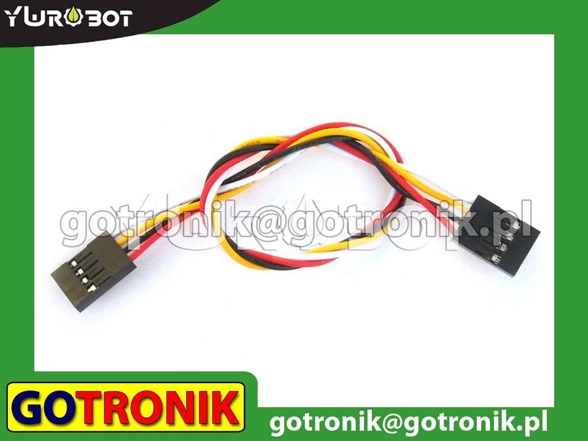 Przewód połączeniowy 2-pin z rastrem 2,54mm żeńsko-żeński 20cm