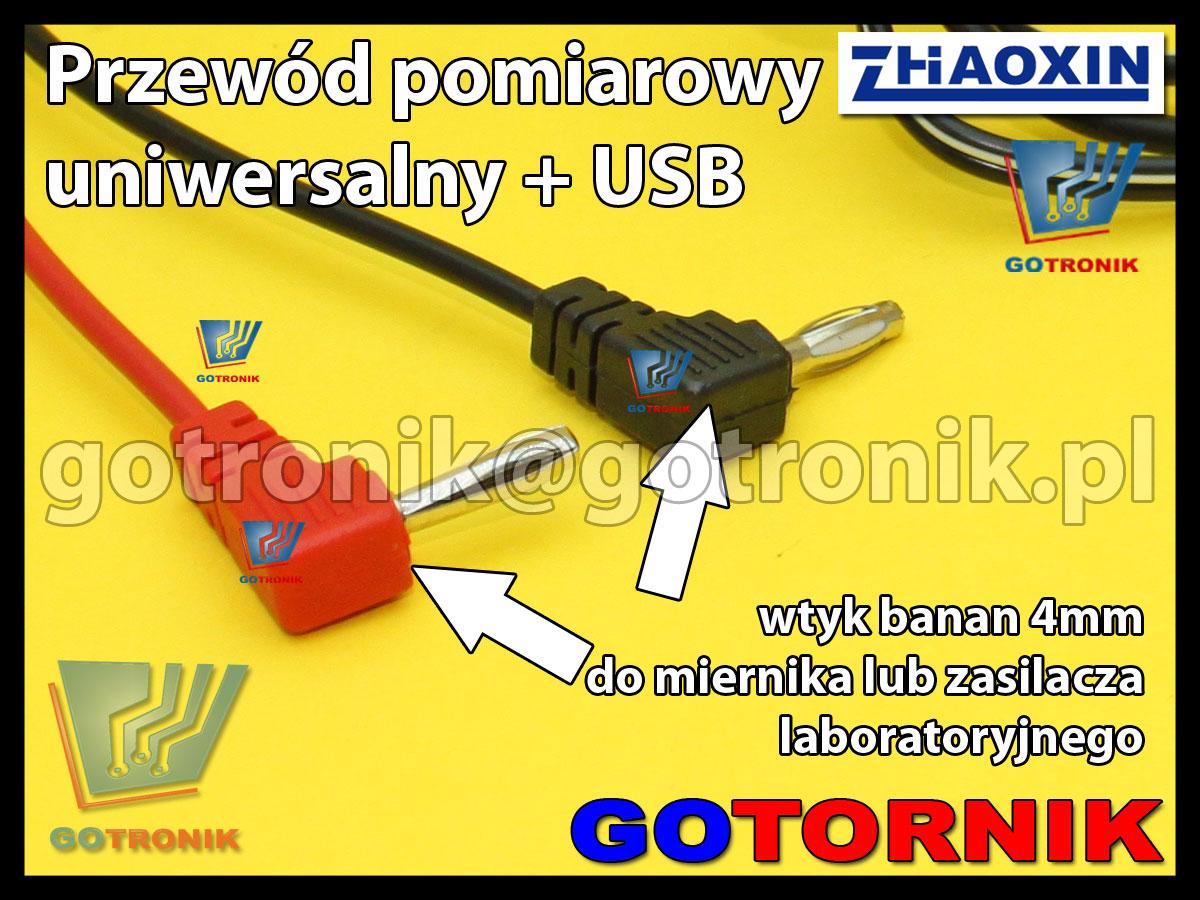Przewód uniwersalny pomiarowy + gniazdo USB
