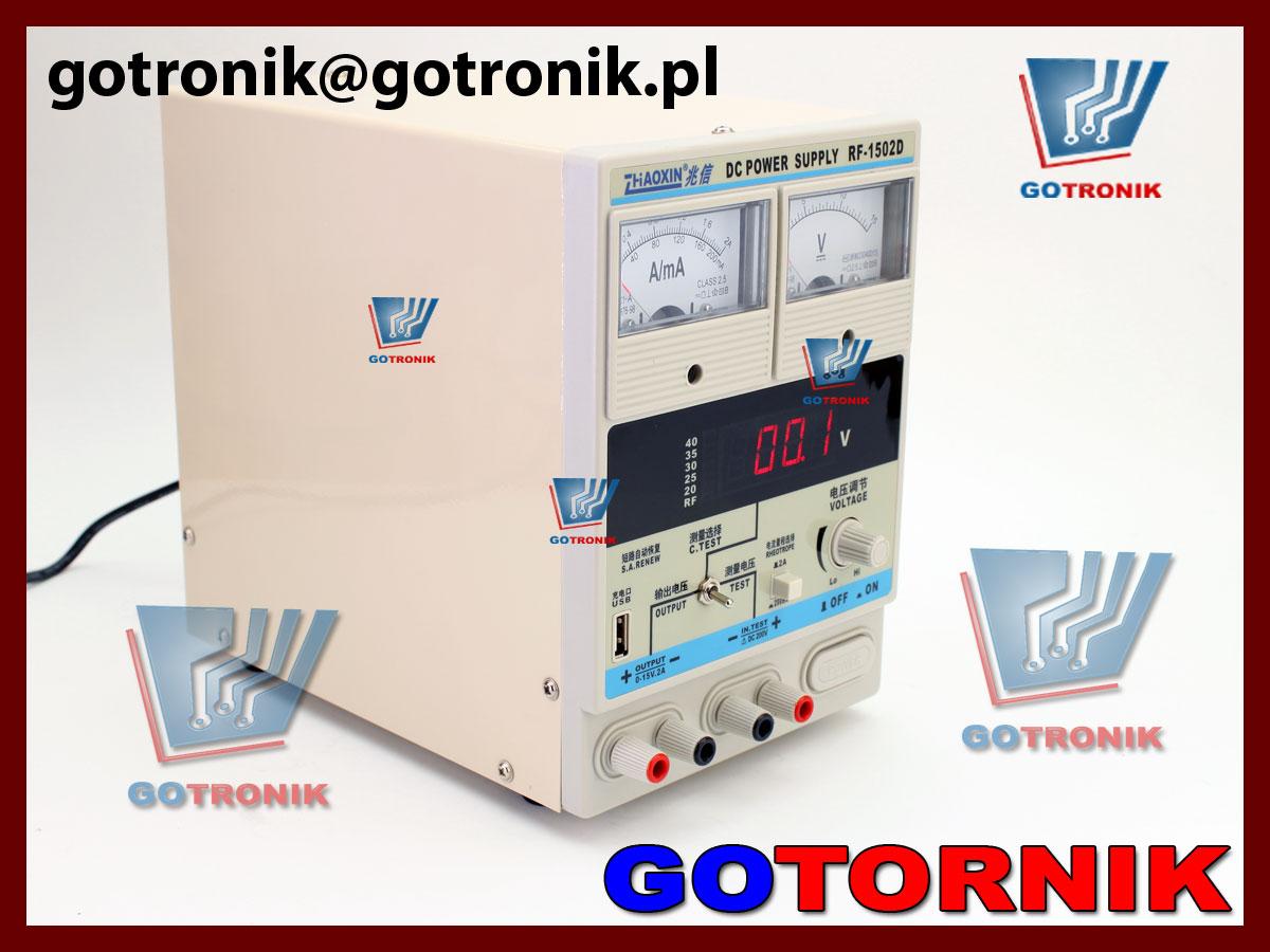 RF-1502D zasilacz laboratoryjny regulowany serwisowy GSM produkcji ZHAOXIN