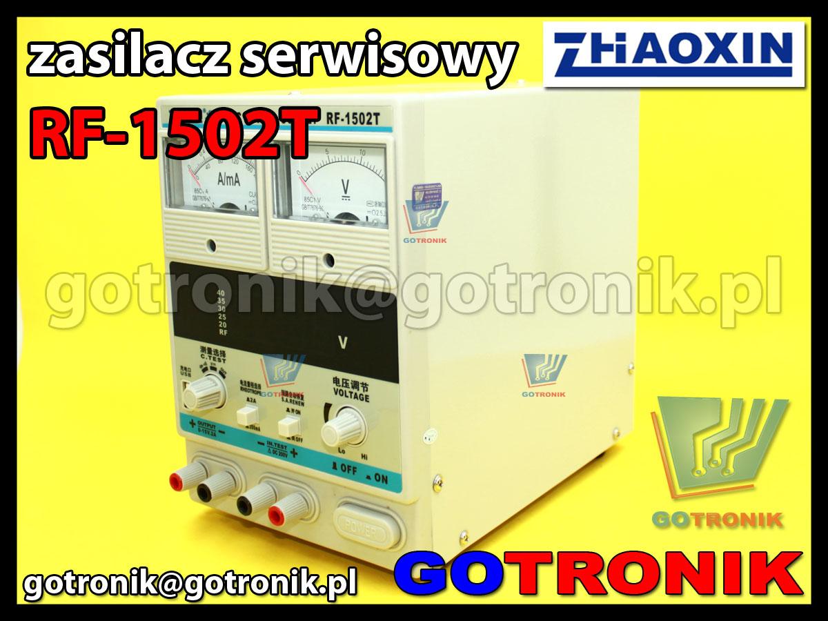 RF-1502T RF1502T Zhaoxin Powerlab zasilacz laboratoryjny serwisowy 15V 2A regulowany