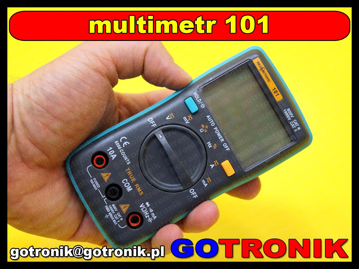 Richmeters101 multimetr rms truerms miernik cyfrowy lcd 10a rm101