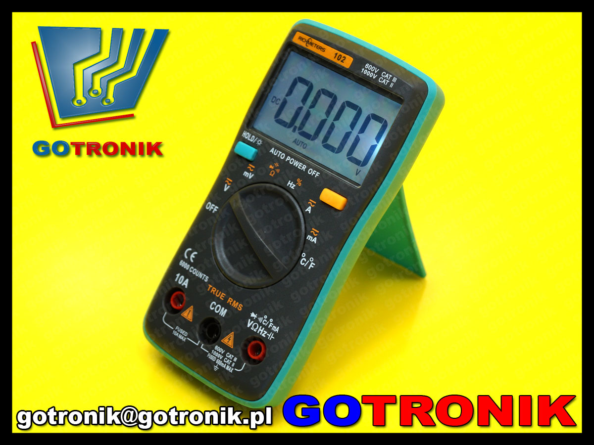 Richmeters102 multimetr truerms miernik cyfrowy lcd 10a rm102