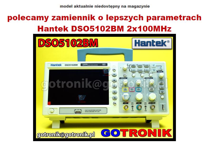 oscyloskop cyfrowy 2x100MHz