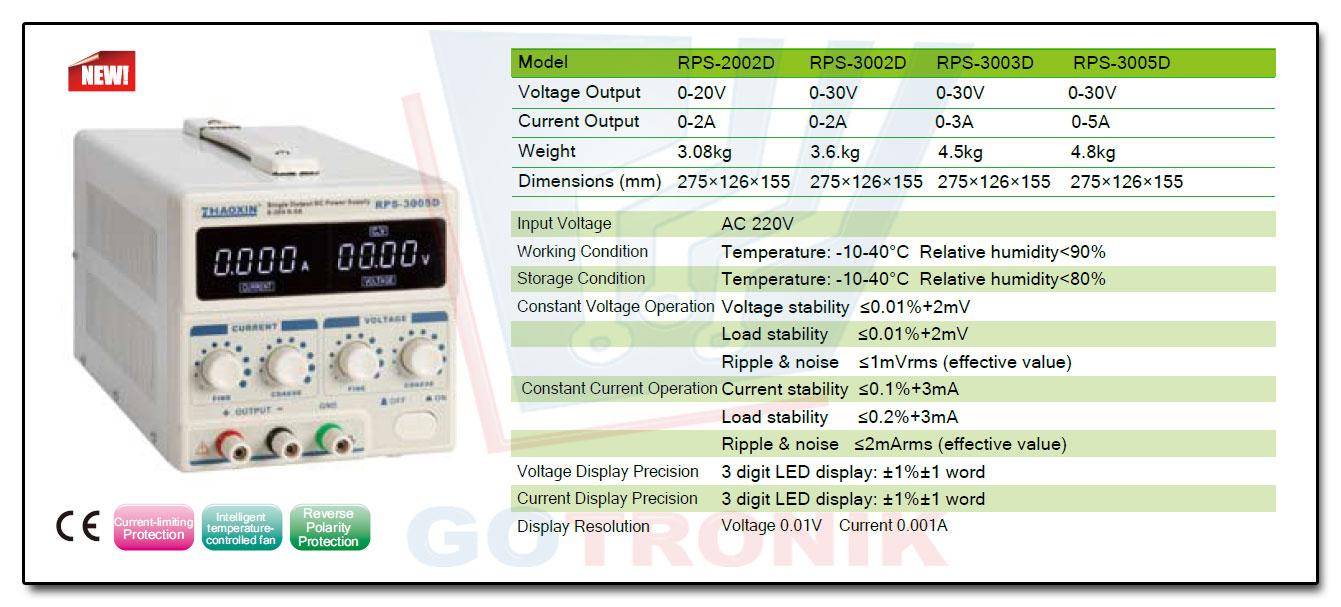 RPS-3005D Zhaoxin zasilacz laboratoryjny regulowany 30V 5A