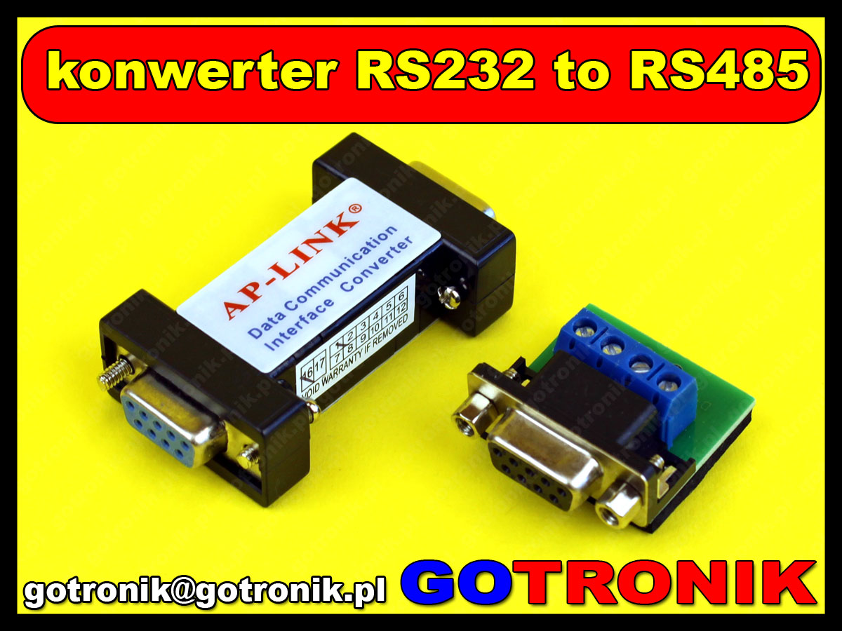 adapter konwerter DB9 rs232 RS485 ap-link