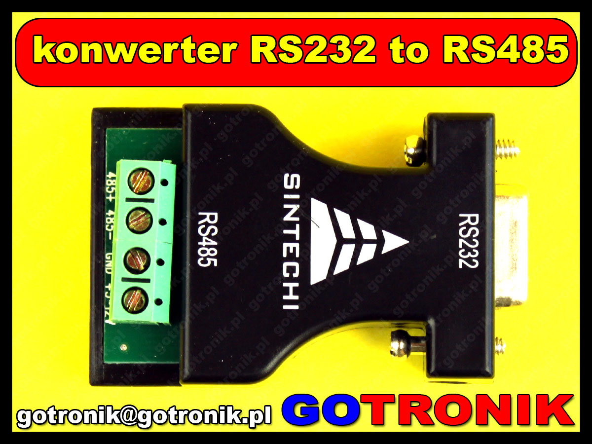 adapter konwerter DB9 rs232 RS485 sintech