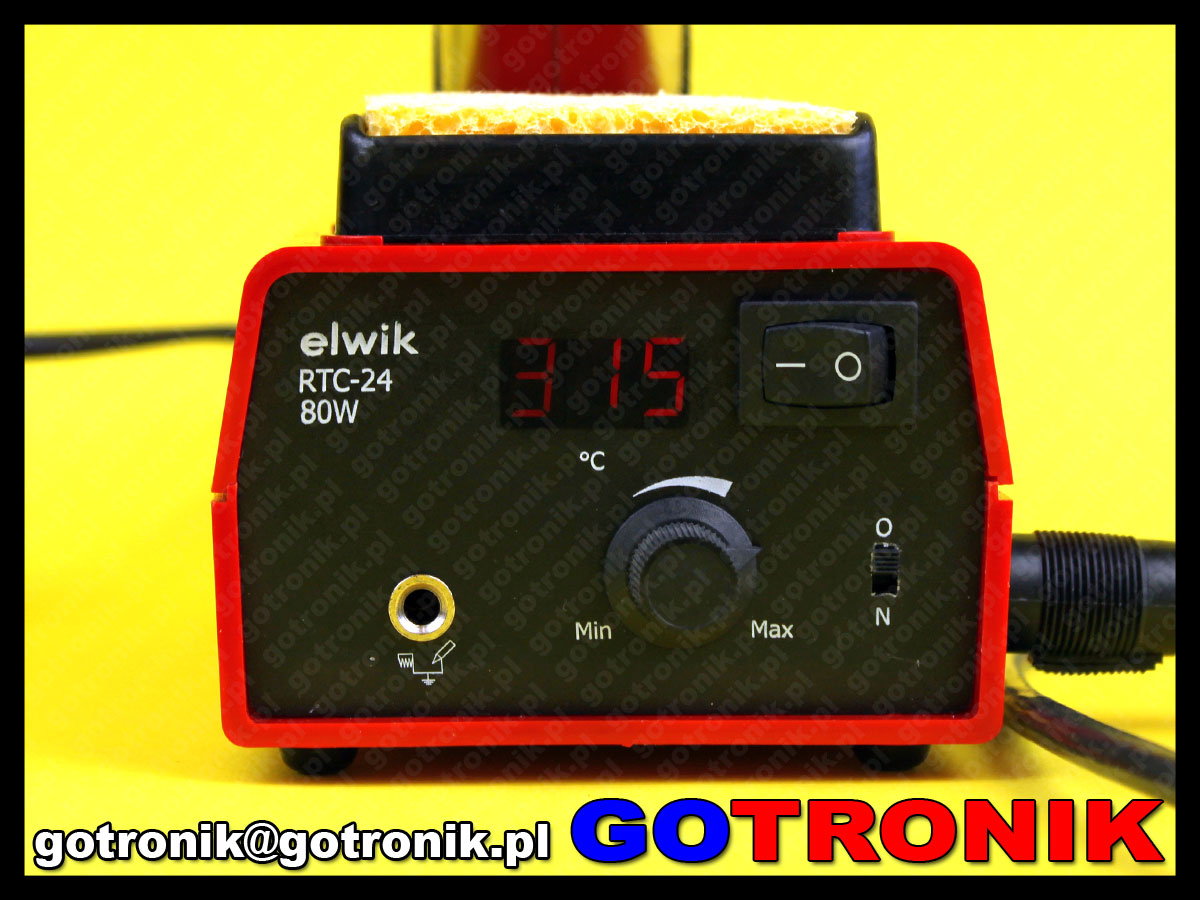 elwik RTC-24 stacja lutownicza cyfrowa grotowa moc 80W wymienne groty