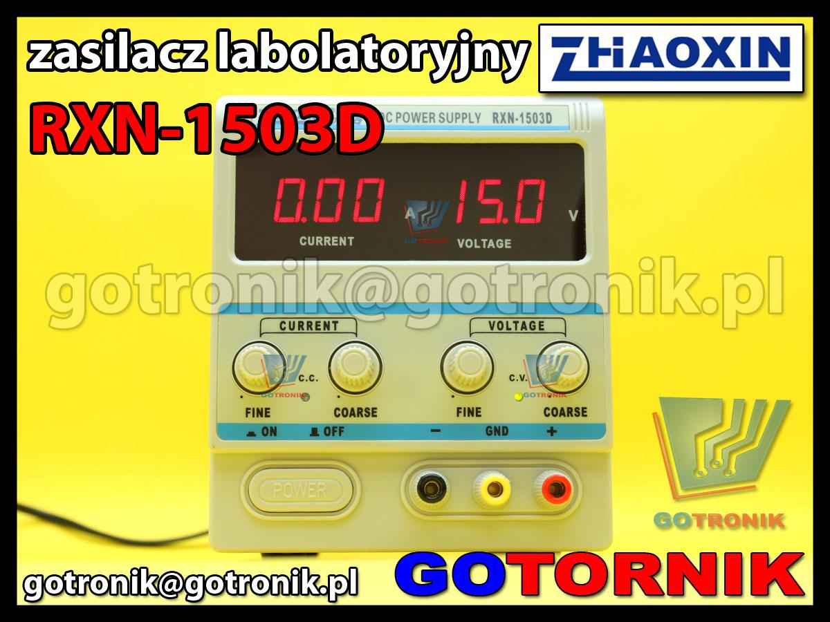 RXN-1503D RXN1503D Zhaoxin zasilacz laboratoryjny 15V 3A regulowany