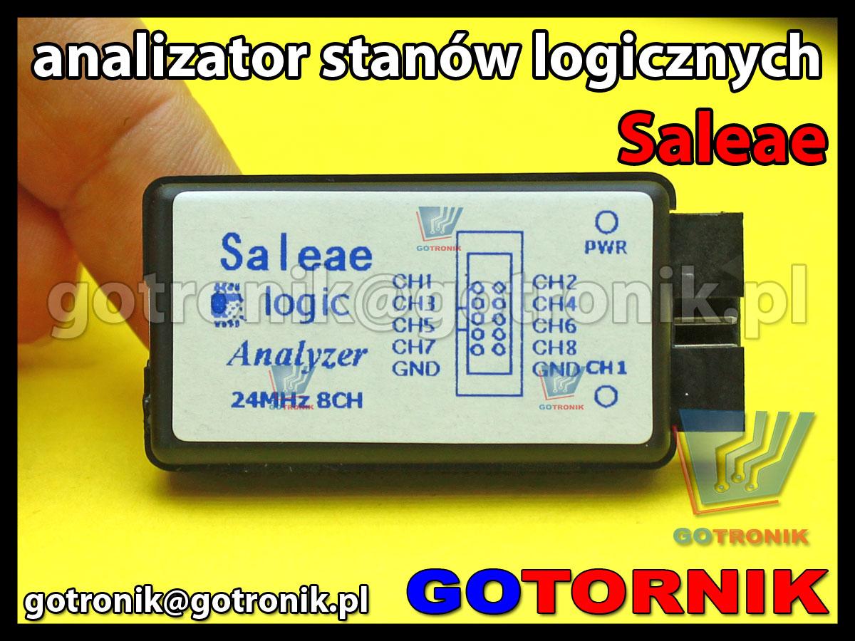 Analizator stanów logicznych Saleae 8-kanałowy 24MHz