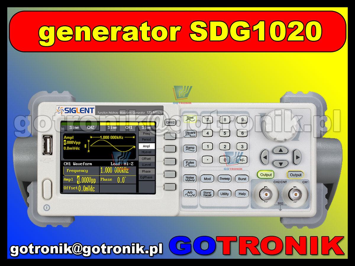 SDG1020 Siglent generator funkcyjny DDS arbitralny