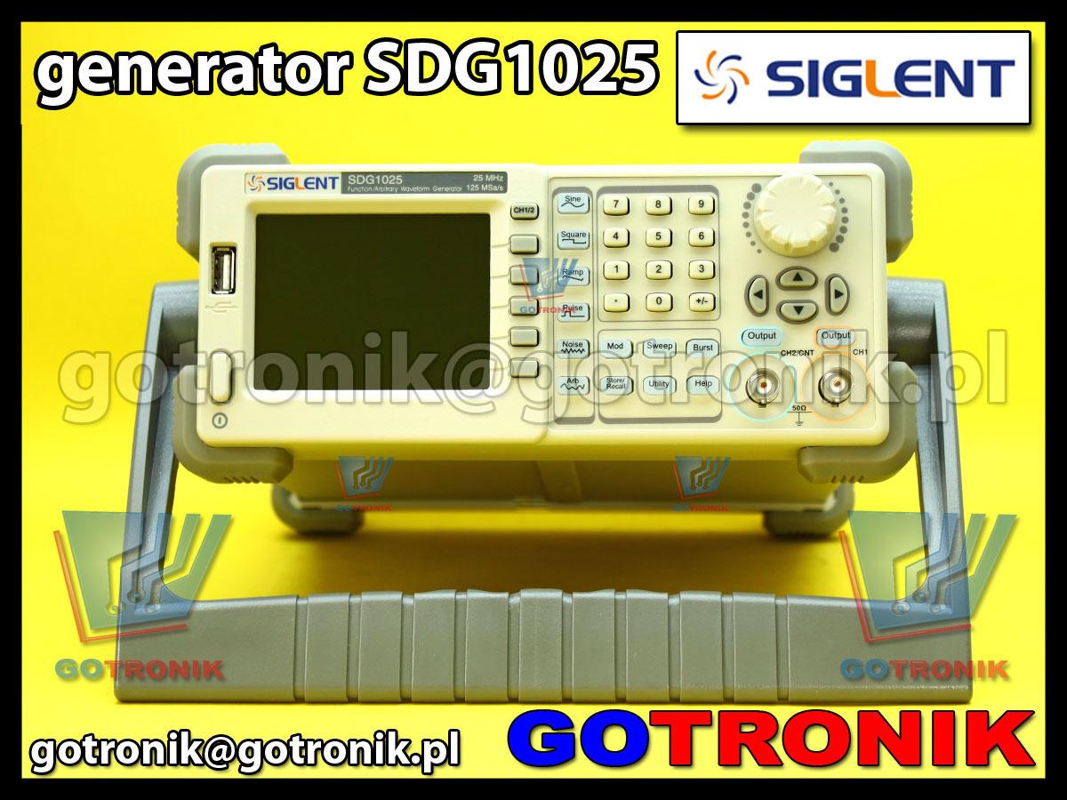geranator funkcyjny arbitralny DDS model SDG1025 produkcji Siglent