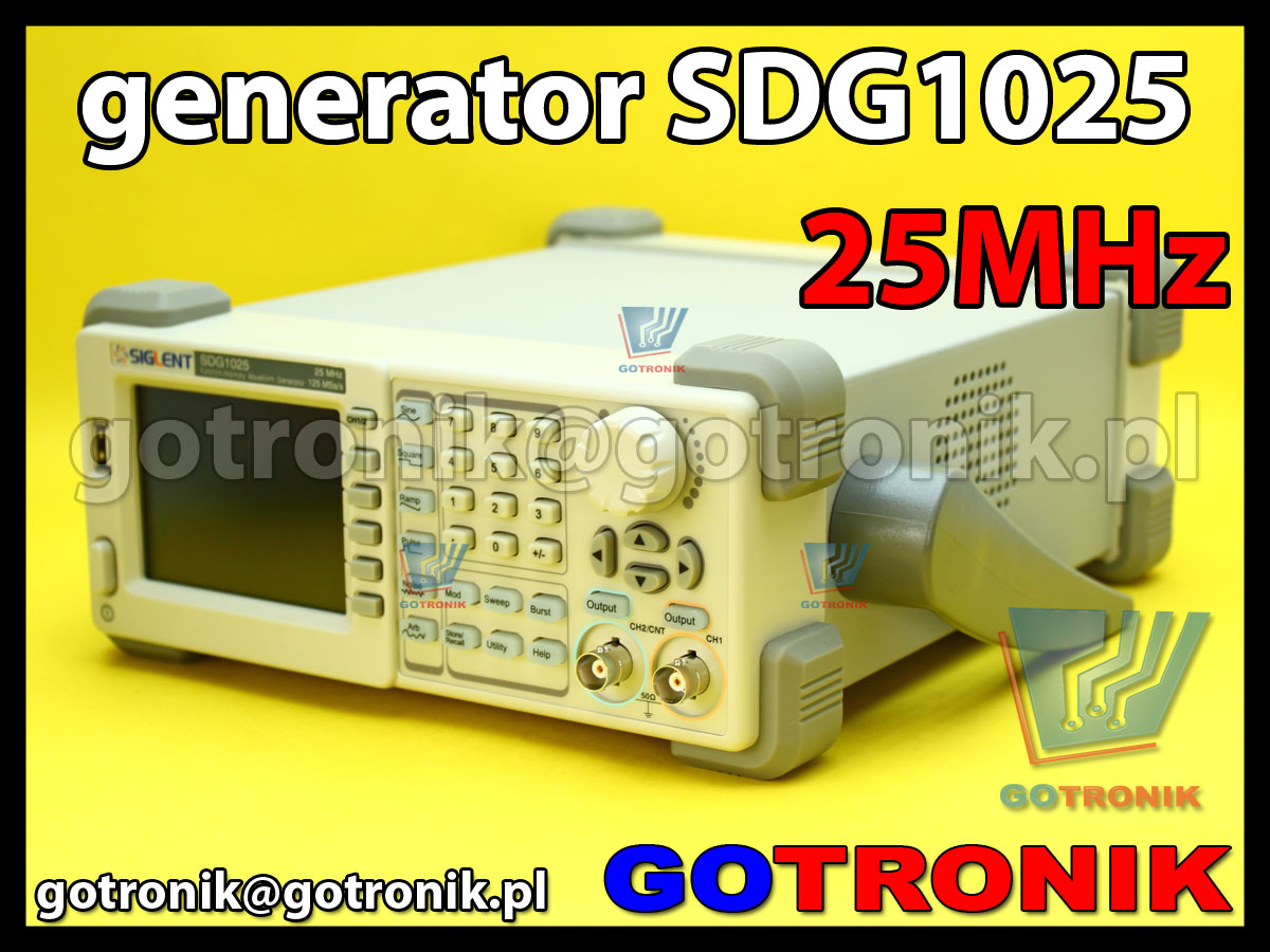 SDG1025 Siglent generator funkcyjny DDS arbitralny