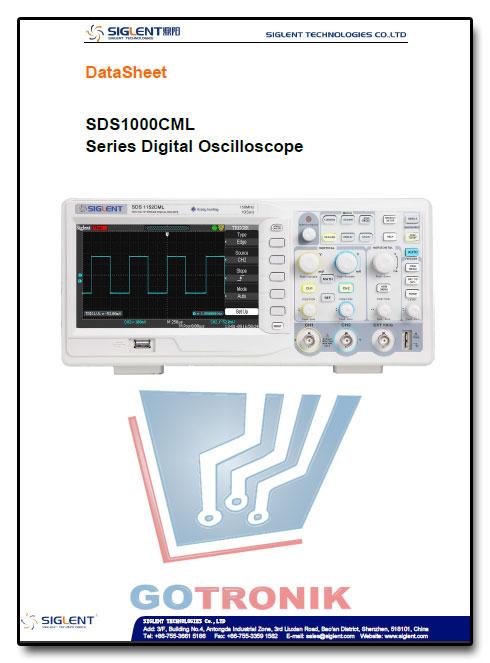 Karta katalogowa oscyloskopów SIGLENT seria SDS1000DL