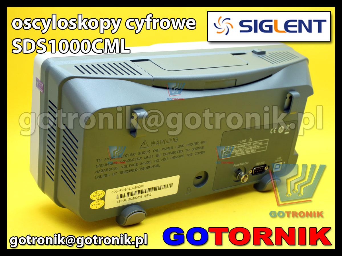 Siglent SDS1000CML oscyloskop cyfrowy SDS1072CML 2x70MHz 1GSa/s