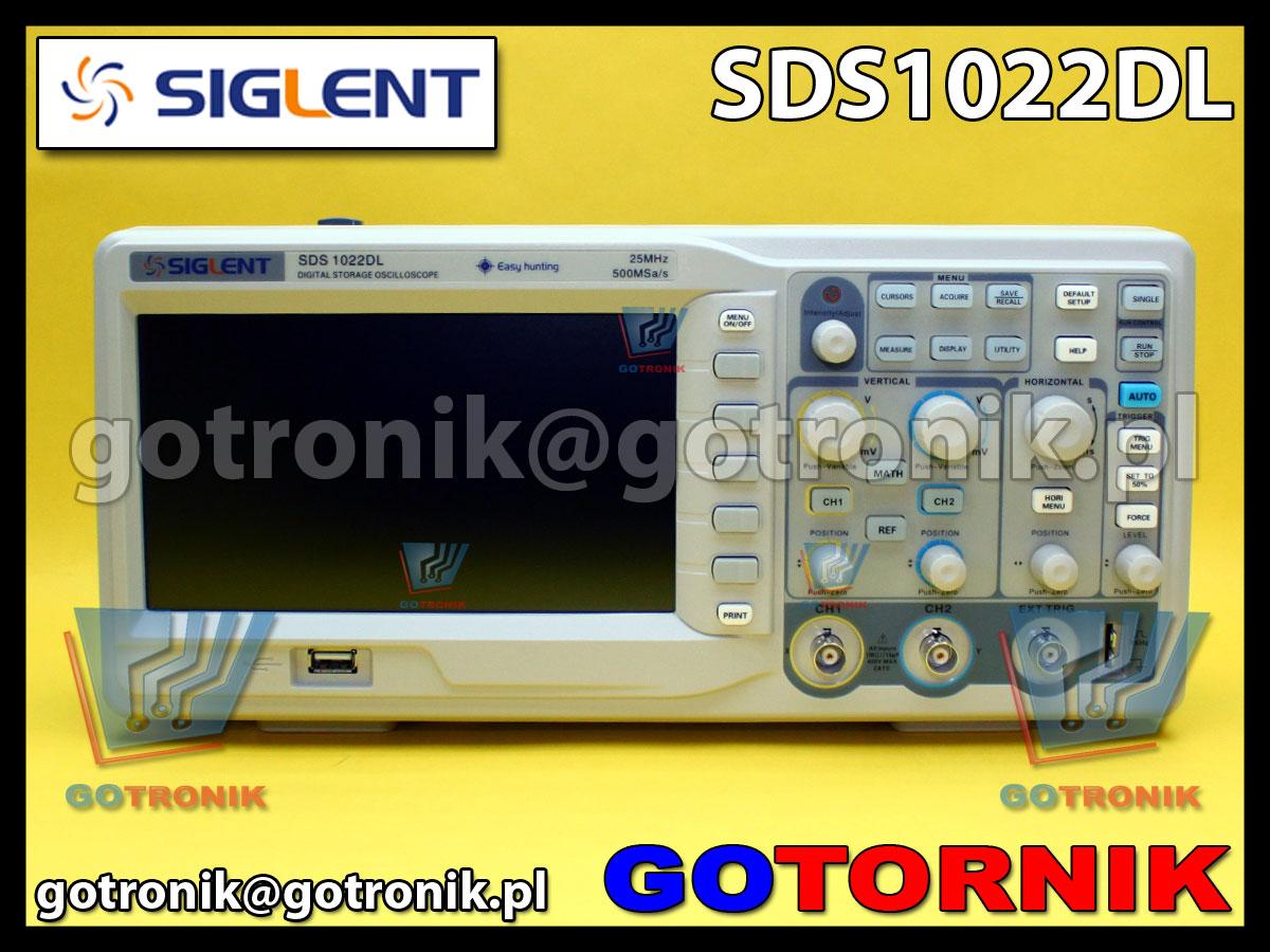 SDS1022DL SIGLENT GOTRONIK oscyloskop cyfrowy