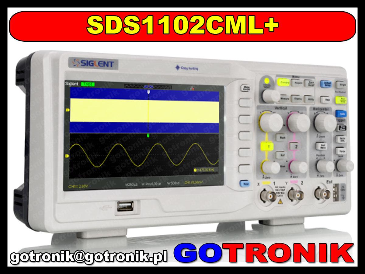 SDS1102CML+ plus Siglent oscyloskop cyfrowy 2x100MHz