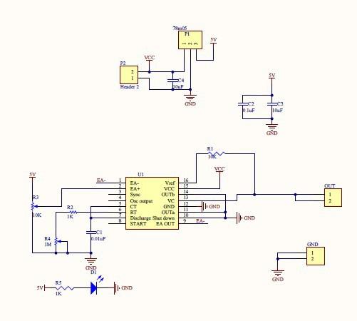 schemat ideowy modułu SG3525: