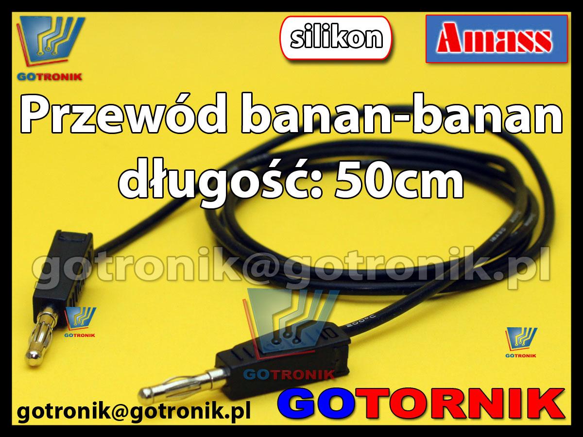 Przewód pomiarowy banan - banan 15A długość: 50cm