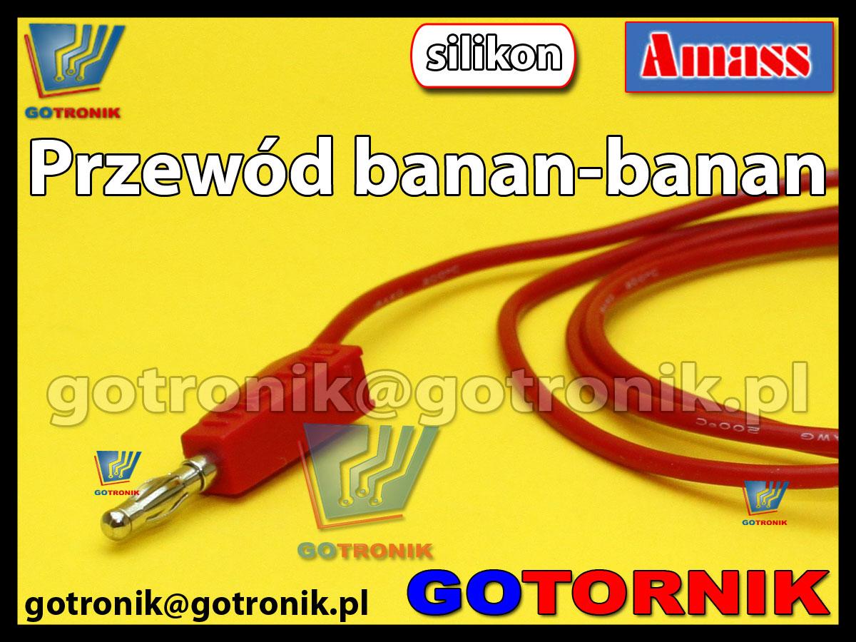 Przewód pomiarowy banan - banan 15A SILIKONOWY